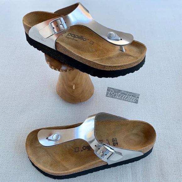 BIRKENSTOCK PAPILLIO Gizeh Platform Leather Thong